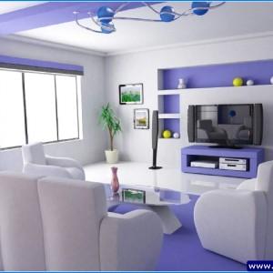 mavi dekorlu ev
