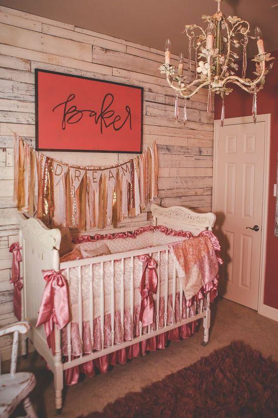 rustik bebek odası