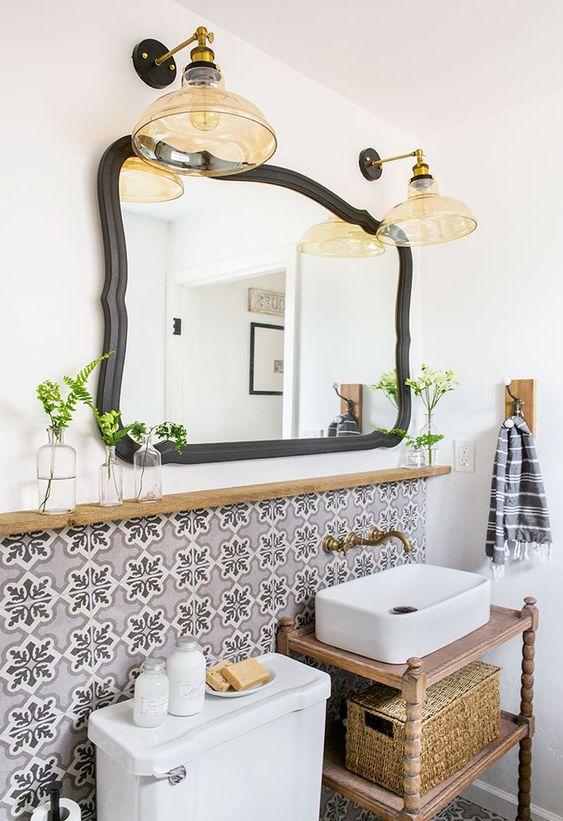 küçük banyo raf fikirleri