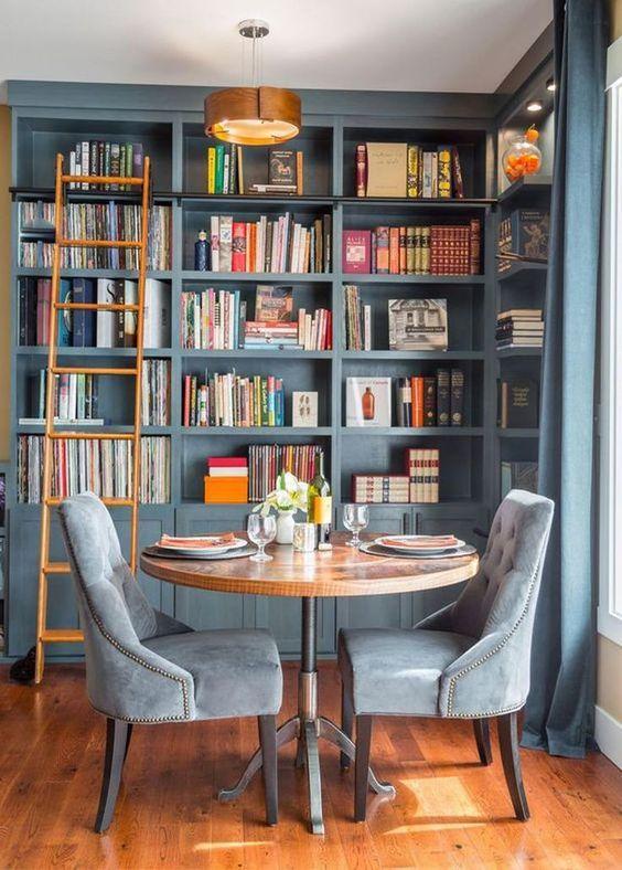 ev kütüphanesi dekorasyon fikirleri